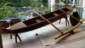 outrigger surfing canoe