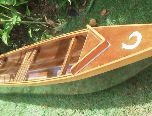 Hawaiian Style Opelu Outrigger Fishing Canoe